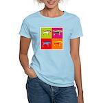 Pointer Silhouette Pop Art Women's Light T-Shirt