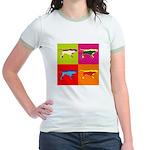 Pointer Silhouette Pop Art Jr. Ringer T-Shirt