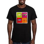 Pointer Silhouette Pop Art Men's Fitted T-Shirt (d