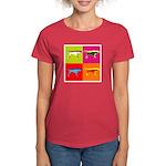 Pointer Silhouette Pop Art Women's Dark T-Shirt