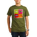 Pointer Silhouette Pop Art Organic Men's T-Shirt (