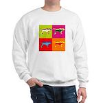 Pointer Silhouette Pop Art Sweatshirt