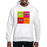 Pointer Silhouette Pop Art Hooded Sweatshirt