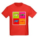 Pointer Silhouette Pop Art Kids Dark T-Shirt