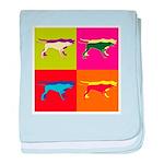 Pointer Silhouette Pop Art baby blanket