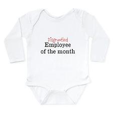 Disgruntled Employee Long Sleeve Infant Bodysuit