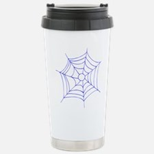 Blue Spider Web Stainless Steel Travel Mug