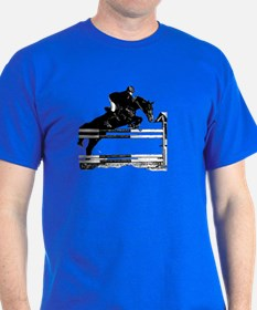 Show Jumper on a dark horse T-Shirt