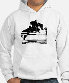 Show Jumper on a dark horse Hoodie