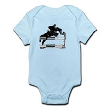 Show Jumper on a dark horse Infant Bodysuit