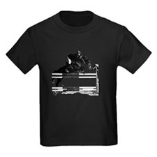Show Jumper on a dark horse T