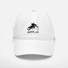 Show Jumper on a dark horse Baseball Baseball Cap
