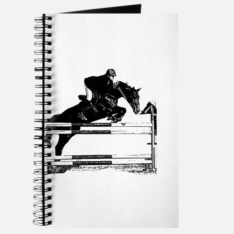 Show Jumper on a dark horse Journal