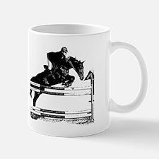 Show Jumper on a dark horse Mug