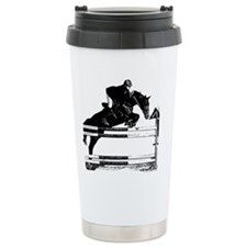 Show Jumper on a dark horse Travel Mug