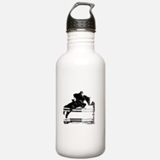 Show Jumper on a dark horse Water Bottle