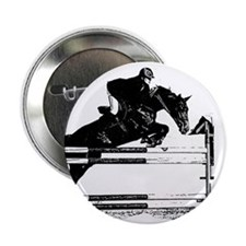 "Show Jumper on a dark horse 2.25"" Button (10 pack)"