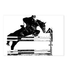 Show Jumper on a dark horse Postcards (Package of