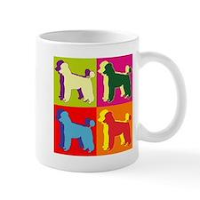 Poodle Silhouette Pop Art Mug