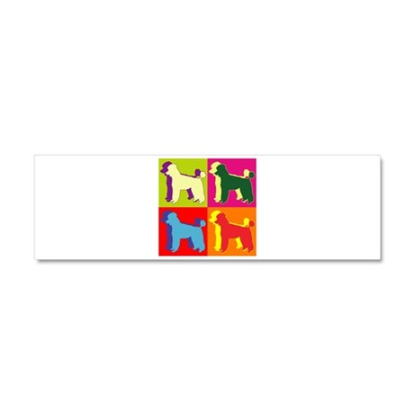 Poodle Silhouette Pop Art Car Magnet 10 x 3