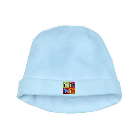Poodle Silhouette Pop Art baby hat