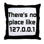 No Place Like 127.0.0.1 Throw Pillow