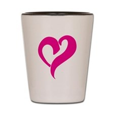 Pink Graffiti Heart Shot Glass