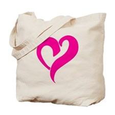 Pink Graffiti Heart Tote Bag