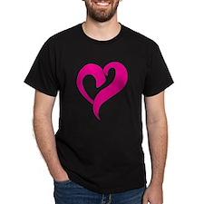 Pink Graffiti Heart T-Shirt