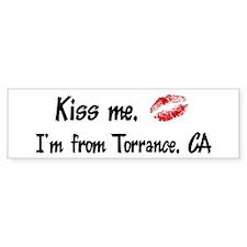 Kiss Me: Torrance Bumper Bumper Sticker