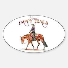 Happy Trails Sticker (Oval)