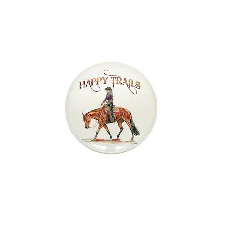 Happy Trails Mini Button (10 pack)