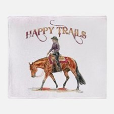 Happy Trails Throw Blanket