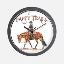 Happy Trails Wall Clock