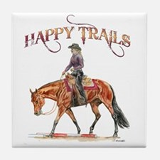 Happy Trails Tile Coaster