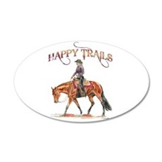 Happy Trails 22x14 Oval Wall Peel