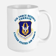 Air Force Reserve Cmd with Text Large Mug