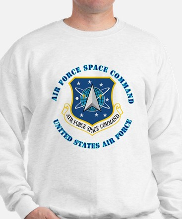 Air Force Space Cmd with Text Sweatshirt