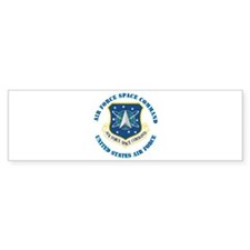 Air Force Space Cmd with Text Bumper Sticker