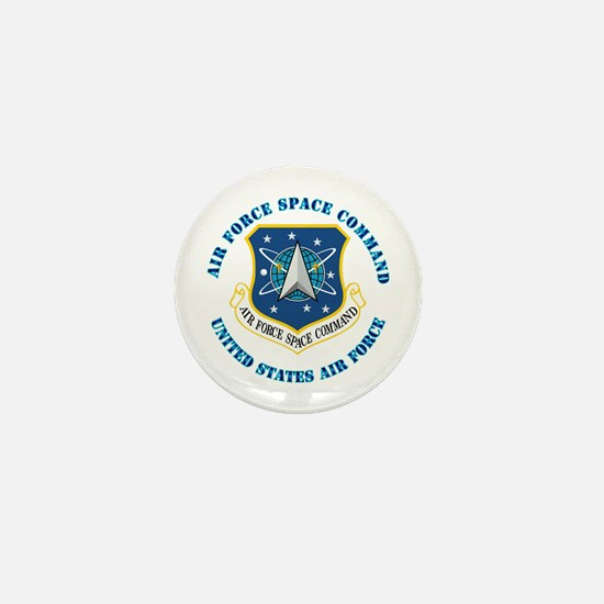 Air Force Space Cmd with Text Mini Button