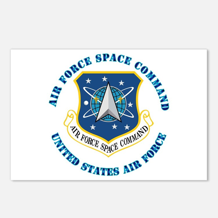 Air Force Space Cmd with Text Postcards (Package o