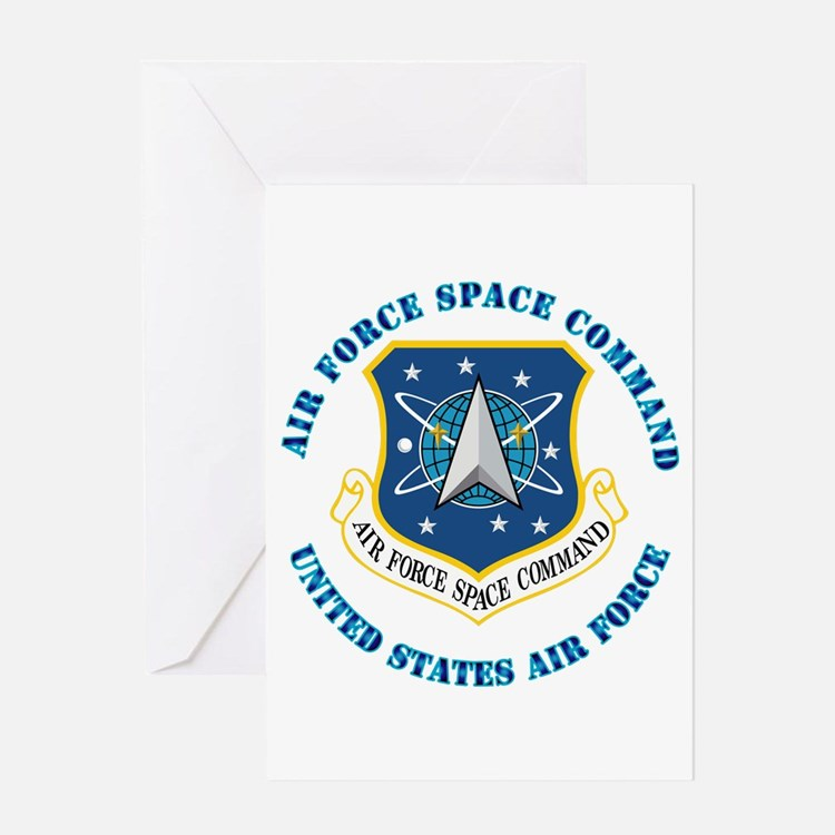 Air Force Space Cmd with Text Greeting Card