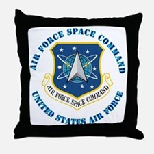 Air Force Space Cmd with Text Throw Pillow