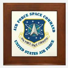 Air Force Space Cmd with Text Framed Tile