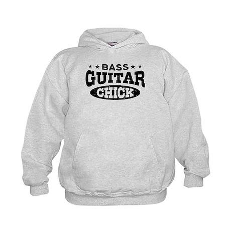 Bass Guitar Chick Kids Hoodie