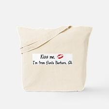Kiss Me: Santa Barbara Tote Bag