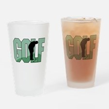 Golf16 Drinking Glass