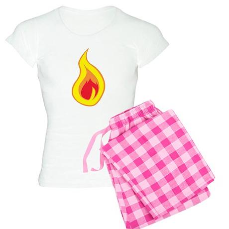 Burning Flame Women's Light Pajamas