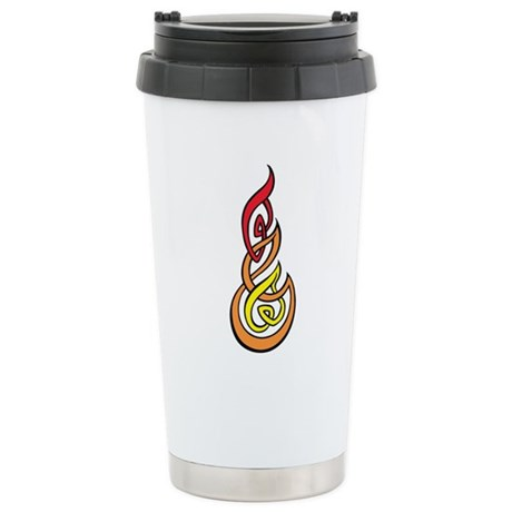 Abstract Flame Art Stainless Steel Travel Mug