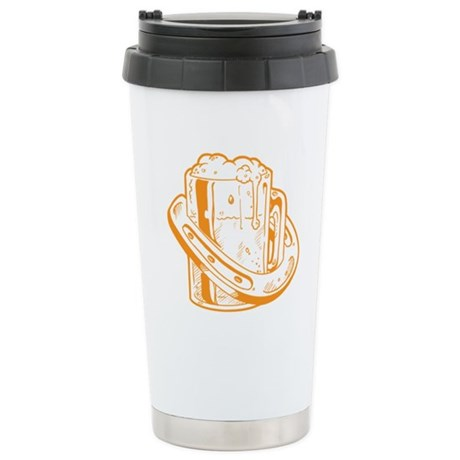 Lucky Horseshoe Beer Stainless Steel Travel Mug